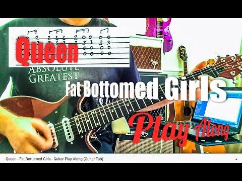 Queen - Fat Bottomed Girls - Guitar Play Along (Guitar Tab)