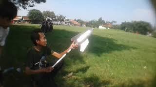 uji coba roket air dari botol