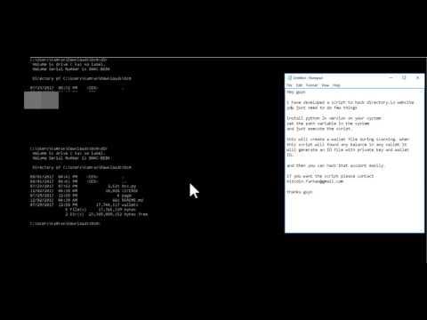 Bitcoin Privat Key bulk(directory.io) Scanner (working 15th Sep) 2017