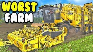 The Worst Possible Farm Ever Created... (Farming Simulator 2017)
