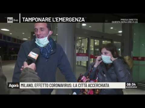 Milano, effetto coronavirus: la città accerchiata - Agorà 24/02/2020