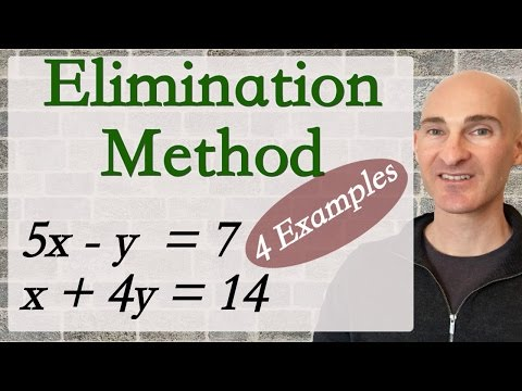Solving Systems of Equations Elimination Method