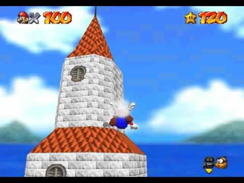 Super Mario 64 - 1up Challenge Outside The Castle