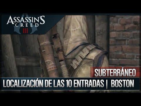 Assassin's Creed 3 - Walkthrough - Localización de las 10 entradas del Subterráneo Boston [100%]