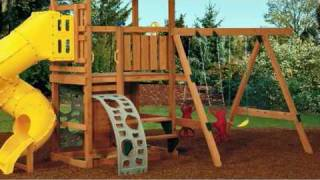 Patented Third Leg Design On Wooden Playsets