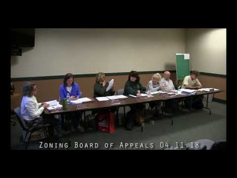 Zoning Board of Appeals 04.11.18