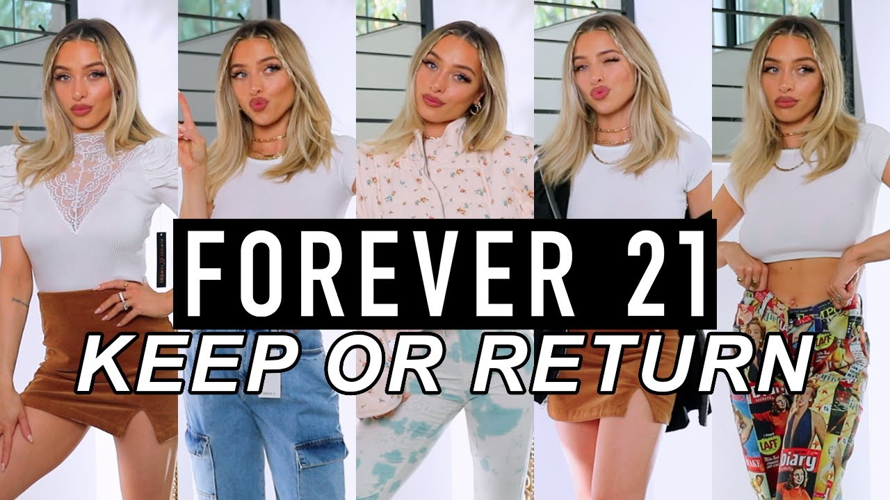 FOREVER 21 CLOTHING HAUL   PANTS, TOPS, JACKETS (KEEP OR RETURN)