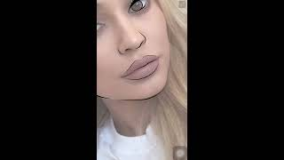 Adobe Draw | How to make a cartoon - Kylie Jenner
