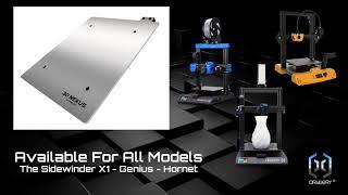 3DN Artillery 3D Printers Aluminum Buildplates Teaser 2021