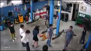 the cctv view of the singaporeans vs malaysian technicians fight