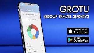 GROTU - Group Travel Surveys and Planning app
