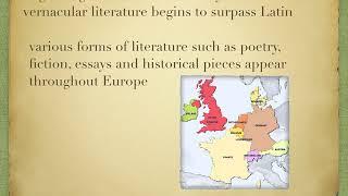 Renaissance literature and vernacular language