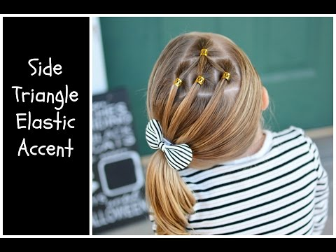Side Triangle Elastic Accent Hairstyle for Girls thumbnail