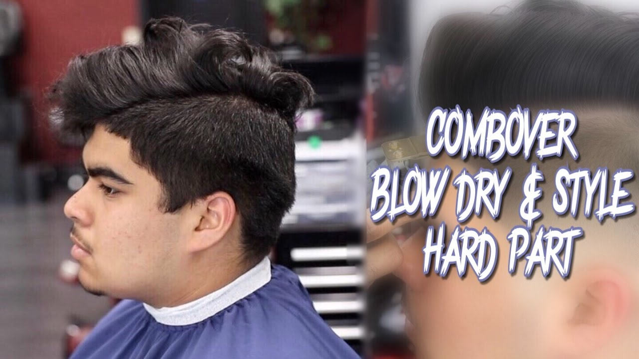 COMBOVER TUTORIAL: SIDE PART | BLOWDRY AND STYLE | MID BALD FADE