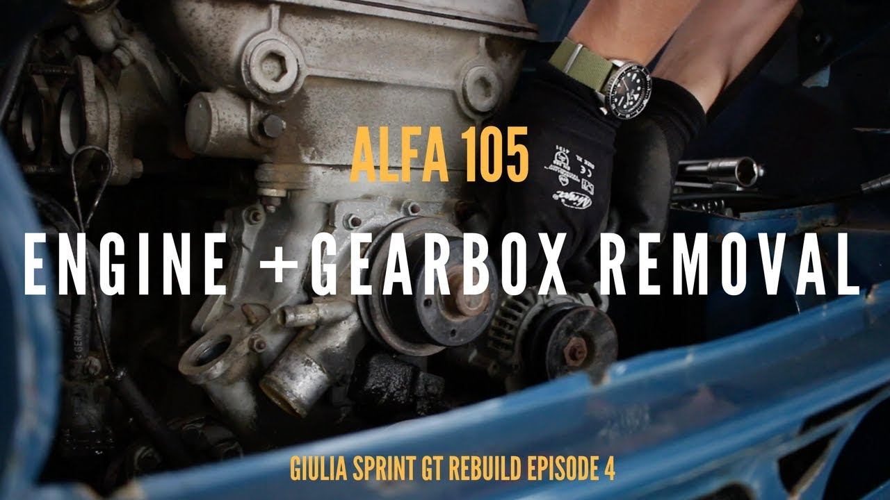 How Not To Remove An Alfa 105 Engine Youtube Romeo Gt 1300 Junior Restoration Windscreen Wiper Motor