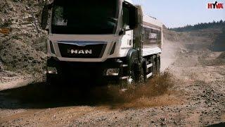 Przepiękny MAN 8x8 wywrotka - jazda w kopalni