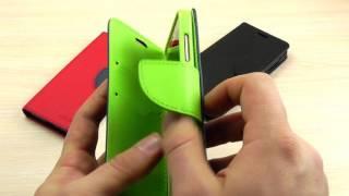 """ОБЗОР: Кожаный Чехол-Книжка для Xiaomi Redmi 4A с Функцией Подставки """"Goospery"""" серия """"Mercury"""""""