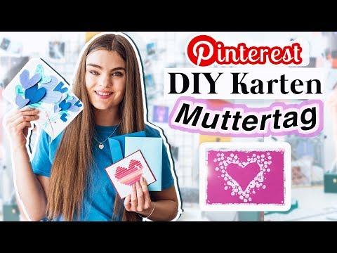 5 Muttertags Karten DIY's - Geschenkideen...