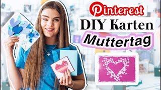 5 Muttertags Karten DIY's - Geschenkideen für deine Mama // I'mJette