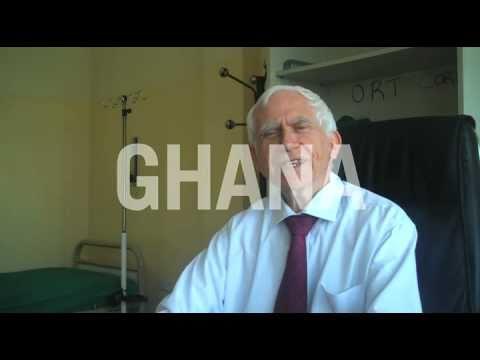 Volunteer doctor working in Ghana