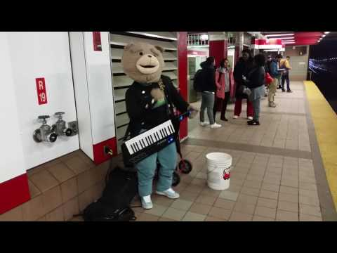 Keytar Bear in Kendall Square