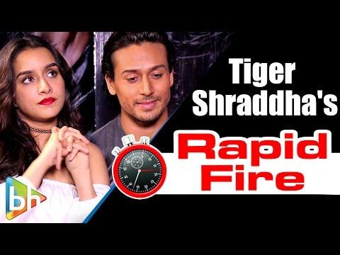 Tiger Shroff | Shraddha Kapoor's ENTERTAINING Rapid Fire On Salman Khan | 'Baaghi'