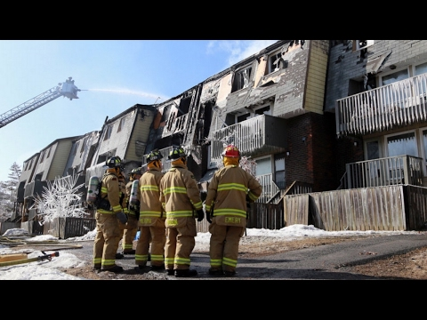70 families homeless following a fire in Nepean