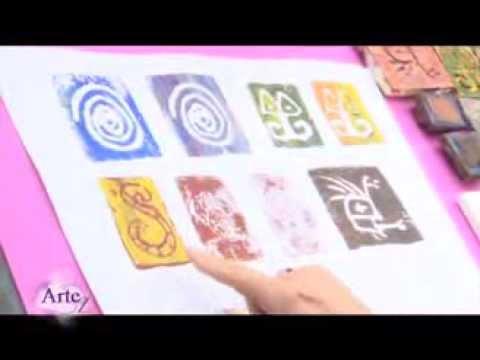 C mo hacer sellos y grabados para decoraci n youtube for Como hacer sellos
