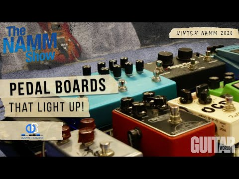 Winter NAMM 2020: Earthboard LIGHTS UP NAMM with Their Pedal Boards.