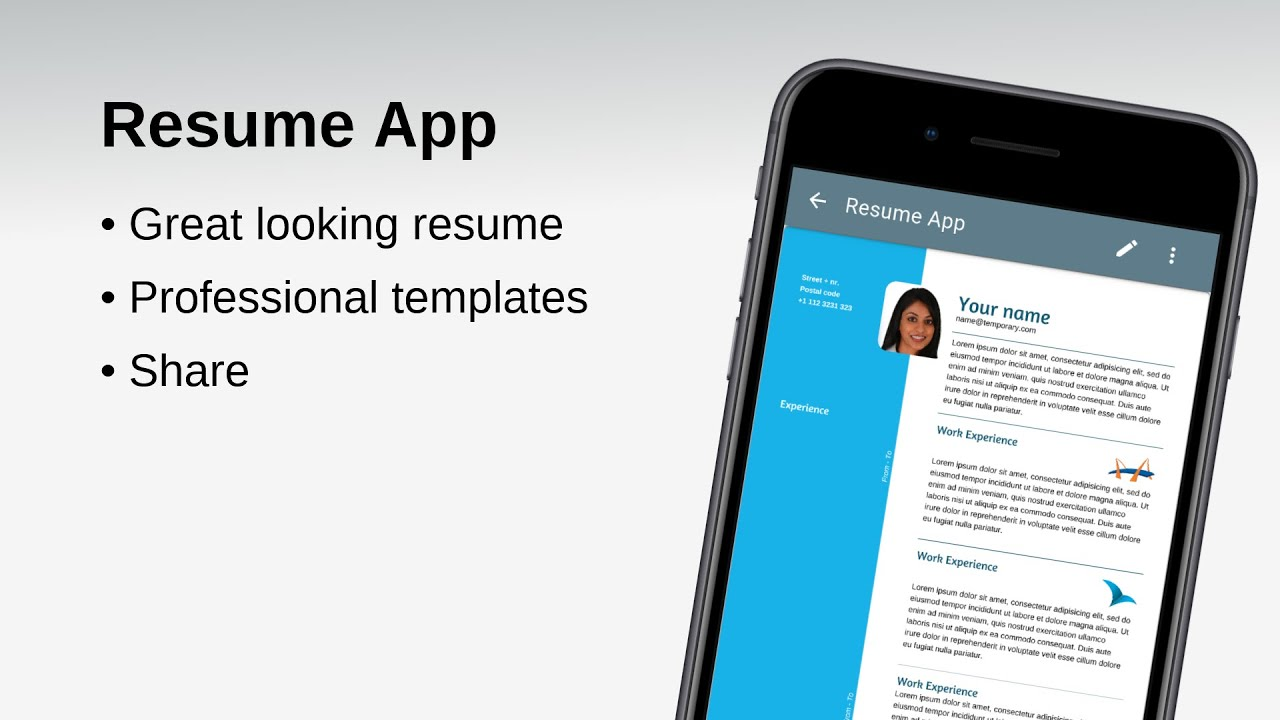 Resume App A Resume Builder App To Make A Great Looking Resume For Free Youtube