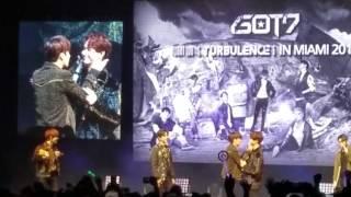 (Fancam) GOT7 Turbulence in Miami Fanmeet [Unison game among members]