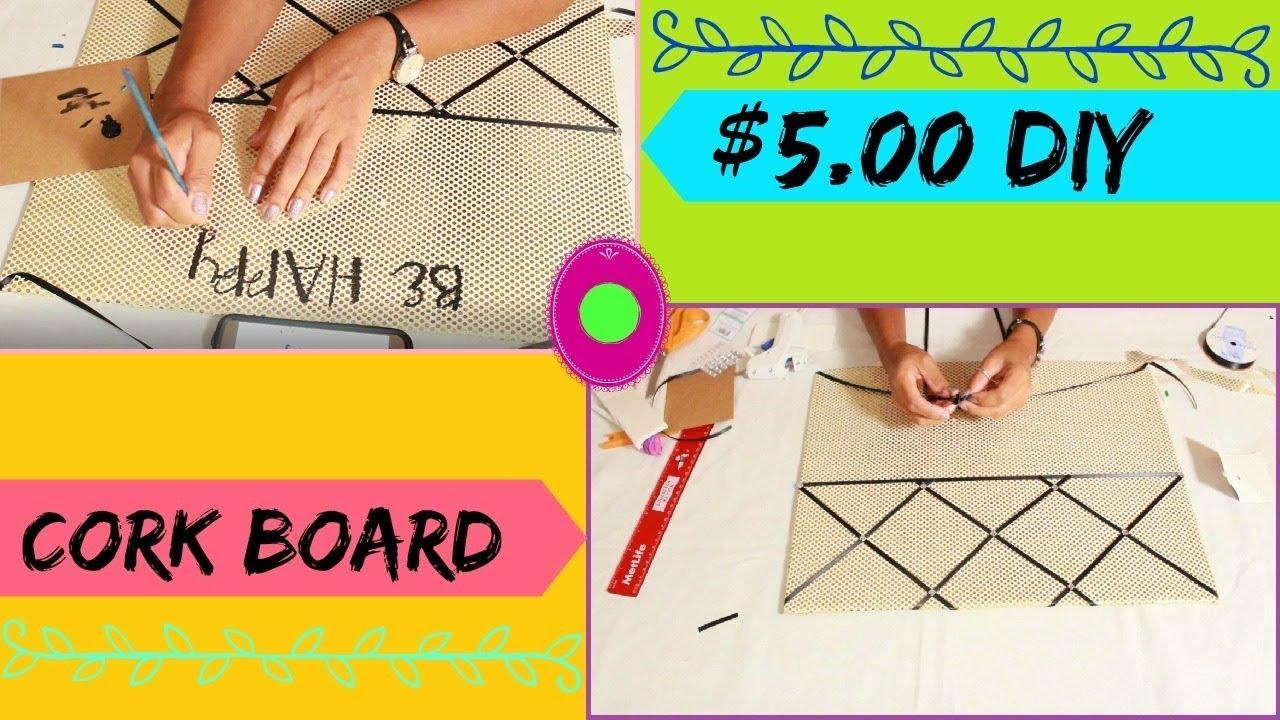 Diy Corkboard Inspiration Board Using Foam Board Cheap And Easy 5
