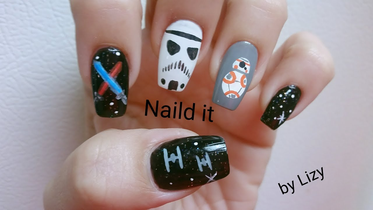 Star Wars The Force Awakens Nail Design inspiration - YouTube