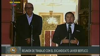 Bertucci se sent a dialogar con Maduro