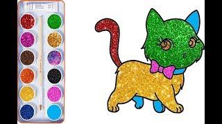 Tô Màu Cho Bé - Bé Tập Tô Màu Con Mèo - Coloring Pages Cats
