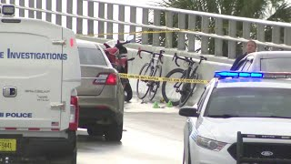 1 person detained for questioning after cyclist shot in Miami