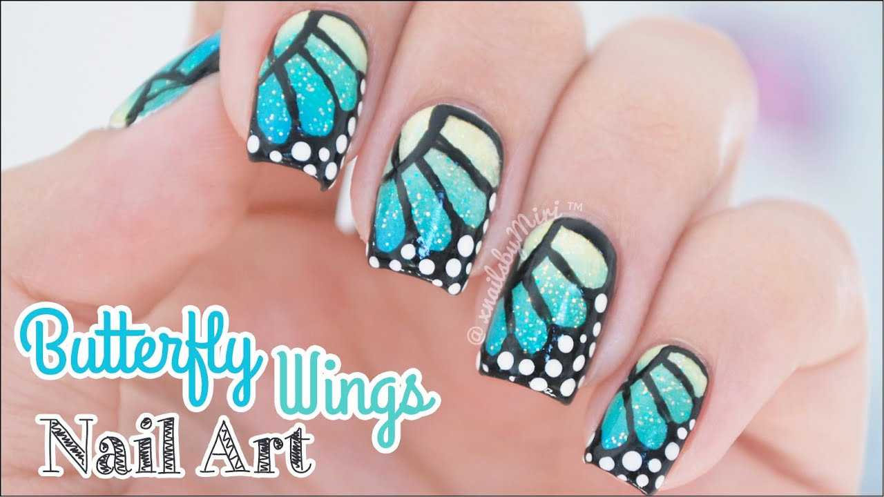 Erfly Wings With Grant Nail Art