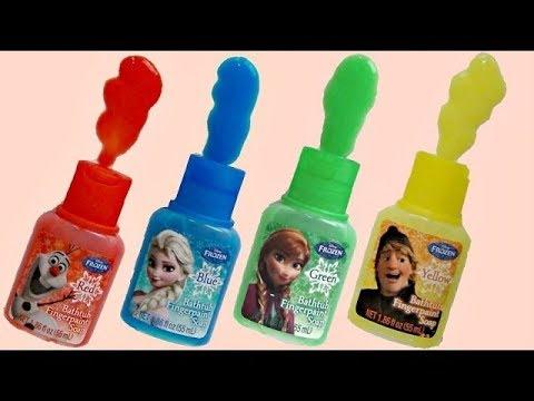 Frozen Bathtub Fingerpaint Soap Fun with Anna, Elsa, Olaf & Kristoff