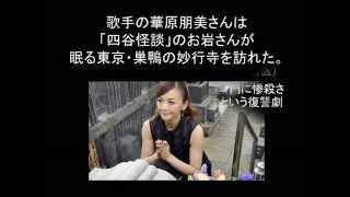 歌手の華原朋美さんは「四谷怪談」のお岩さんが眠る東京・巣鴨の妙行寺...