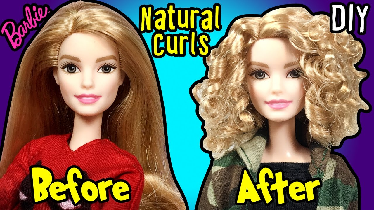 How to Make Natural Curly Hairstyle using Barbie Doll - DIY Doll ...