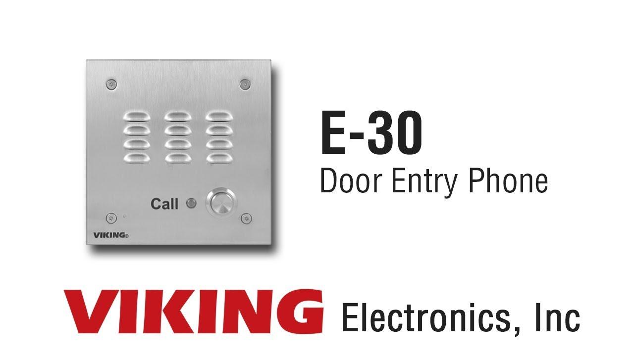 Viking E 30 Door Entry Phone Youtube