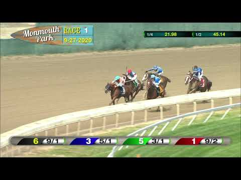 video thumbnail for MONMOUTH PARK 09-27-20 RACE 1 – THE SMOKE GLACKEN STAKES