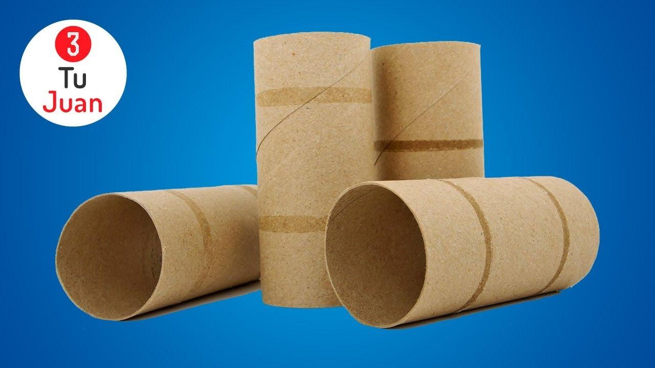 5 Manualidades Con Rollos De Papel Higiénico Rápido Y Fácil Reciclaje Diy Youtube