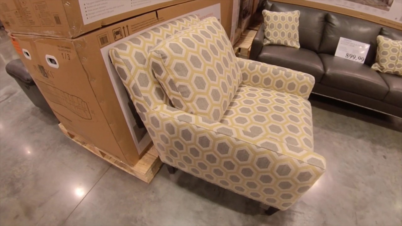 Accent Chairs At Costco At Costco Leather Sofa And Fabric Accent Chair 899 99 Quick Look