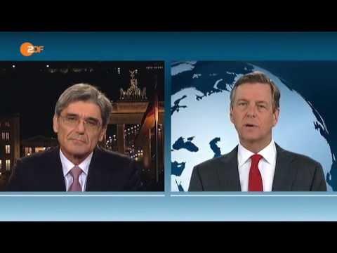 Nachrichtenansager Claus Kleber im Rededuell mit Joe Kaeser 26.03.2014 - Bananenrepublik