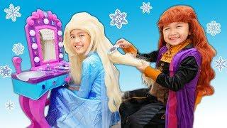アナ雪2❄️大変寝坊しちゃった!おめかしして未知の旅へ出掛けよう!!エルサとアナの冒険☆Frozen2 Adventure of Elsa and Anna himawari-CH