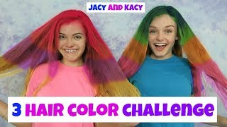 3 Hair Color Challenge ~ Jacy and Kacy