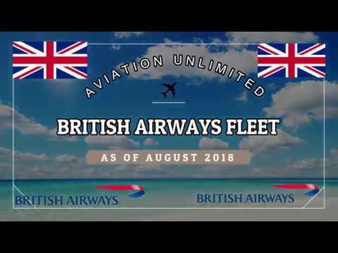 British Airways fleet as of August 2018
