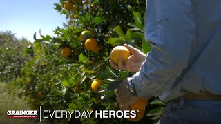 When he was only 17, Jeff Schorner dedicated his life to the family business managing Al's Family Farms in Florida. See what makes this orange grove unique and listen to his family's story in this episode of Grainger Everyday Heroes.