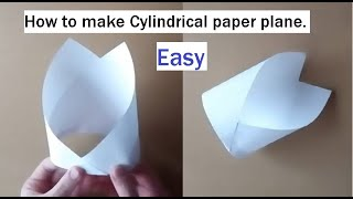 Repeat youtube video [簡単] よく飛ぶ 筒型紙飛行機の作り方(How to make a good fly cylindrical airplane)